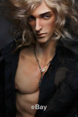 1/4 BJD Doll Boy Man Resin Naked Unpainted Body + Free Eyes + Face Makeup Head