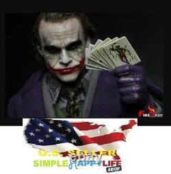 1/6 Joker 12'' FULL Figure With TWO HEADS Fire A001 Batman The Dark Knight USA