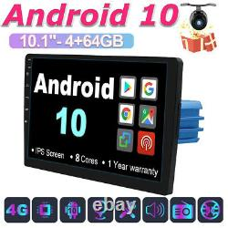 10.1 Android 10 4G+64G Car Stereo Radio GPS Navi Head unit BT-5.0 DAB+WiFi OBD