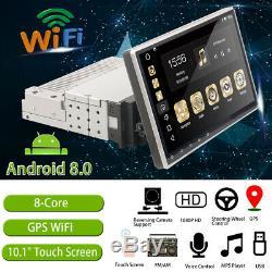 10.1'' Android 8.0 1 DIN Dash Car Radio Stereo GPS Head Unit SAT NAV WiFi FM UK