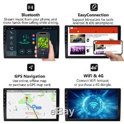 10.1Android 8.1 2DIN Car Stereo GPS Nav Head Unit Touch Screen Bluetooth OBD2 e