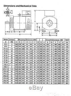 10KW ST Generator Head 1 Phase for Diesel or Gas Engine 60Hz 120/240 Volt