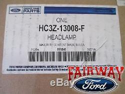 17 thru 19 Super Duty F-250 F-350 OEM Ford LED Head Lamps Lights LH & RH PAIR