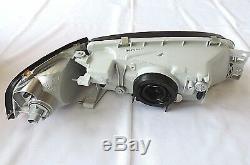 1997 2002 Lancer Evo 4 Black Head Lights Amber Corner Mirage Headlights