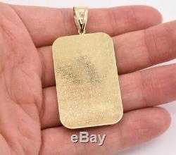 2 1/2 Jesus Head Medallion Diamond Cut Pendant Real 10K Yellow White Gold