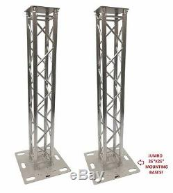(2)DJ Lighting Aluminum Truss Light Weight Dual 6.56 ft Totem System Moving Head