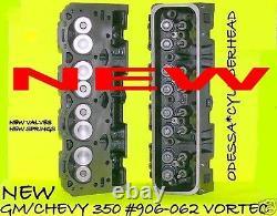2 New Chevy Gm Marine Ohv 5.7 V8 350 906 062 Vortec Cylinder Heads 96-00 No Core