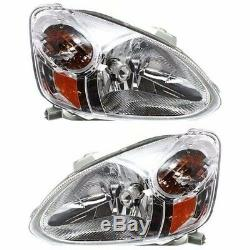 2003 2004 2005 For Ty Echo Headlight Head Lamps Lights Right & Left Pair