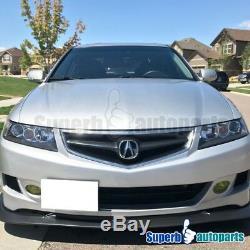 2004-2005 Acura TSX Headlights Projector Head Lamp JDM Black