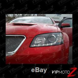 2008-2010 Pontiac G8 LED DRL Strip Black Projector Headlight Head Lamp PAIR