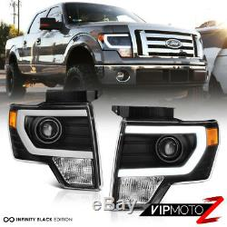 2009-2014 F150 Lobo FiBer OptiC Neon Tube Projector Head Lights Assembly PAIR