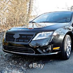 2010-2012 Ford Fusion Black LED Projector Headlights Head Lamps Pair