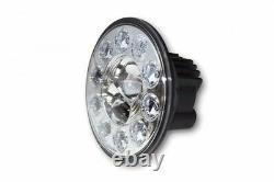 229339 Motorrad LED Hauptscheinwerfer Einsatz rund, verchromtem Reflektor 7 Zoll