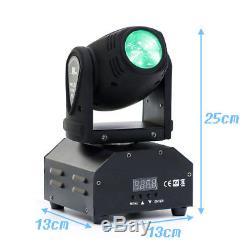 2PCS 60W DMX RGBW LED DJ Moving Head Stage Lighting Bar Beam Disco Party Lights