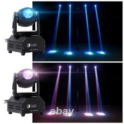 2PCS Stage Lighting RGBW LED Moving Head DMX DJ Club Beam Party Disco Spot Light