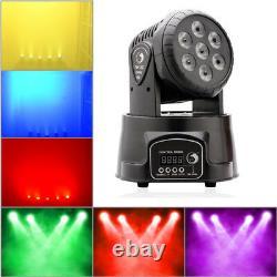 2PCS U`King Stage Light 7 LED Wash Moving Head Disco Light DMX DJ Party Club UK