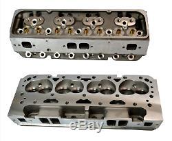 2x ALUMINUM BARE CYLINDER HEADS FOR CHEVY SBC 350 200cc 64cc ANGLE SPARK PLUG