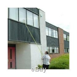 3.5m Telescopic Window Cleaner Brush Squeegee Extendable Head New