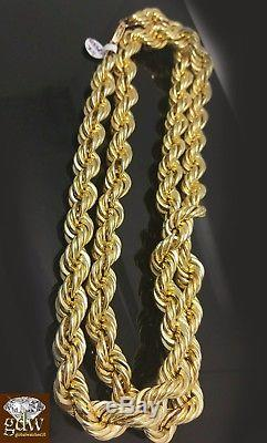 30 inch 10k Rope Chain 15 mm with 1.81 Ct Diamond Jesus Head, Charm Pendent
