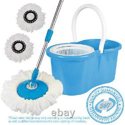 360 Degree Spinning Mop Bucket Home Cleaner Cleaning With Two Spin Mop Heads