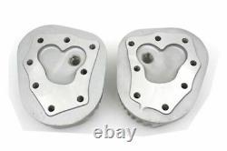 45 WL Flathead 61 High Compression Flat Cylinder Head Set Aluminum Harley WLA