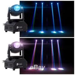 4PCS 60W RGBW LED Stage Light Beam Moving Head DMX512 DJ Disco Party Lighting