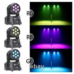 4X 105W RGBW Beam Moving Head Stage Lighting LED Wash DJ DMX Disco Party Lamp