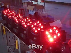 4pcs 363W RGBW Led Beam Moving Head DJ Light Led Beam Flight Case Free Shipping