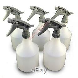 5 x Trigger Spray Bottles Extra Large 1066ml, Heavy Duty Chemical Resistant Head