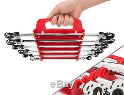 6-pc. Extra Long Flex-Head Ratcheting Box End Wrench Set (mm) TEKTON WRN77164