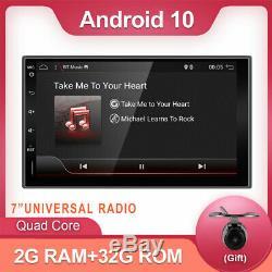 7 Android 10.0 Car Radio Player Stereo 2 DIN GPS SAT Navi Wifi Camera Head Unit
