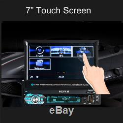 7 Single 1 DIN Car GPS MP5 Player Radio Stereo Touch Head Unit Sat NAV + Camera