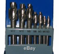7pc Socket Cap Head Screw Counter Bores Counterbore Set