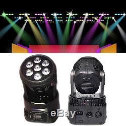 8 Pieces 70W Moving Head Light RGBW Wash Led DMX Stage DISCO DJ Light Lighting