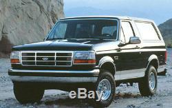92 96 98 Ford Truck Bronco 3Pc Chrome Grill & Head Light Door Kit F150 F250 F350