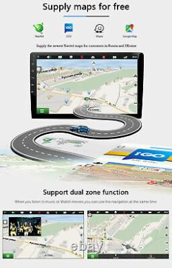 9Inch IPS Android 10 Double 2DIN Car Stereo GPS NAVI Head Unit FM/AM 4G WiFi OBD