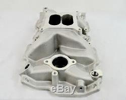 ALUMINUM BARE CYLINDER HEADS CHEVY SBC 350 200cc 64cc WITH HIGH RISE MANIFOLD