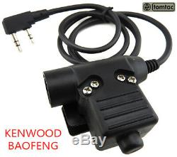 Airsoft 2 Way Radio Set Kit Baofeng Uv-5r Headset Peltor Sordin Comtac Green