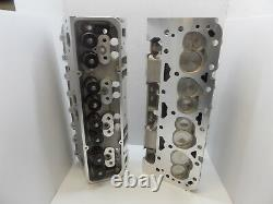 Alum Heads SBC Chevy 200cc 64cc 2.02 /1.60 set up for Hydraulic Flat Tapped cam