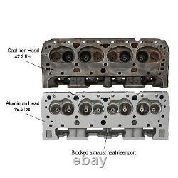 Aluminum GM 3782461 Chevy 327 SBC Camel Back/Double Hump Cylinder Head Assembled