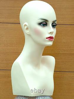 Amazing Female Mannequin Head Shop Display Hat Wig Dummy Lightweight Sturdy UK