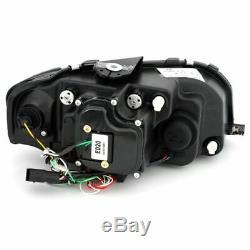 Audi A3 03 08 8P1 Hatch Black Drl Light Strip Projector Head Lights Pair