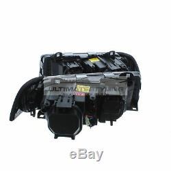 BMW 3 Series E36 1991-1999 Black Angel Eye Head Light Lamp Pair Left & Right