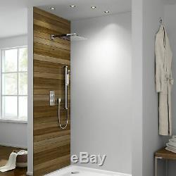 Bathroom 12 Head Conceal Thermostatic Square Shower Mixer Valve Set & Rail Kit