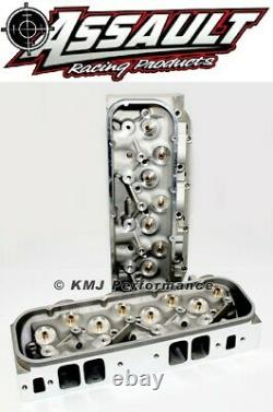 Big Block Chevy BBC 454 Rectangle Port Bare Aluminum Cylinder Heads 122cc 330cc