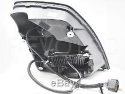 Black 6000K LED Headlights Head Lamps For 04-17 Volvo VNX VNL RH+LH