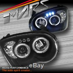 Black Angel Eyes Projector Head Lights for Subaru Impreza GD 03-05 RX WRX STi