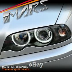 Black AngelEye Head Lights for BMW E46 99-02 Coupe 320ci 323ci 325ci 328ci 330ci