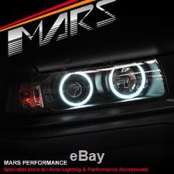 Black AngelEyes projector Head lights for BMW E36 Sedan 318i 320i 323i 325i 328i