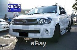 Black CCFL Angel-Eyes Projector Head Lights for 05-10 Toyota Hilux SR5 Ute